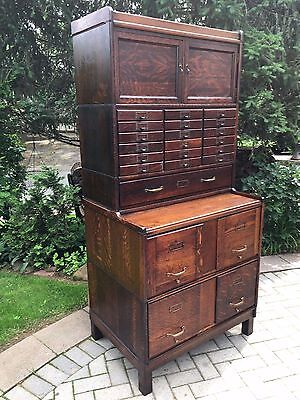 Antique Stacking Barrister File Cabinet Globe Wernicke/Macey Bookcase