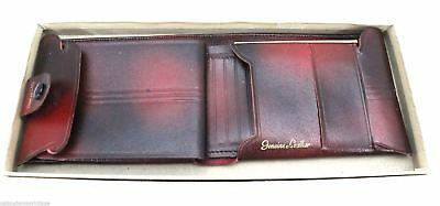 VTG Leather Wallet Mens New In Box NIP  Marbled Cordovan  Bi-Fold