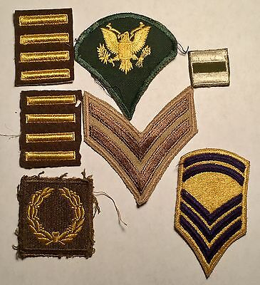 VINTAGE LOT OF 7 ASSORTED MILITARY PATCHES - Bars and Stripes