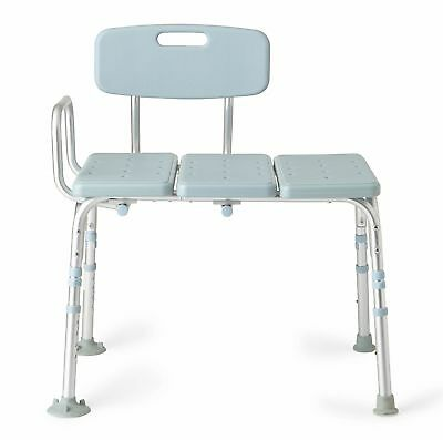 Medline Transfer Bench With Back and Microban