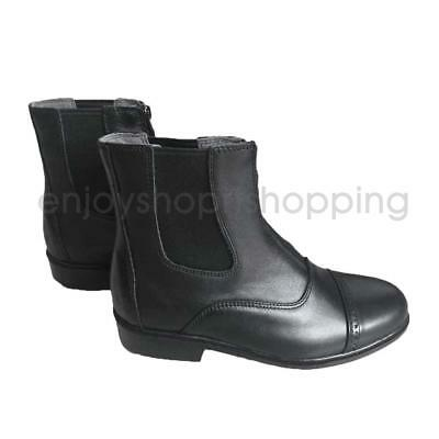 1 Pair Jodhpur Boots Paddock Boots Zip Front Leather