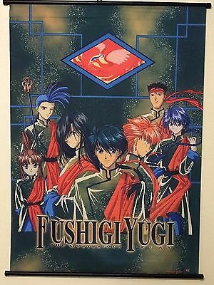 "Vintage Fushigi Yugi Anime Collectible Fabric Wall Scroll 29"" x 42"""