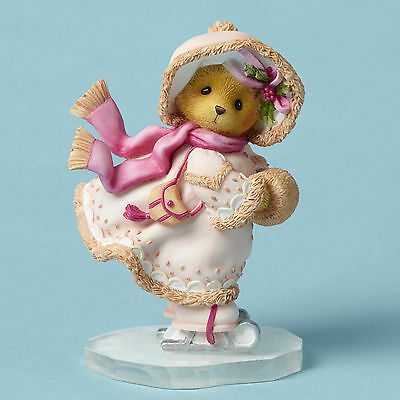 Cherished Teddies*ICE SKATING BEAR IN A PINK COAT*New*MADELINE*Christmas*4049734