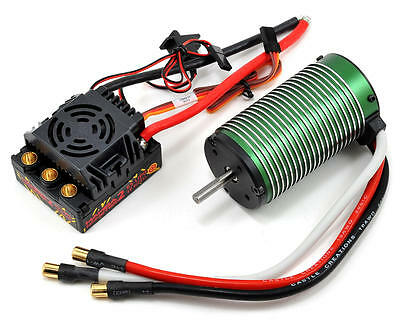 Castle 1/8 Mamba Monster 2 ESC & 2200KV Brushless Motor Combo #010-0108-01 OZ RC