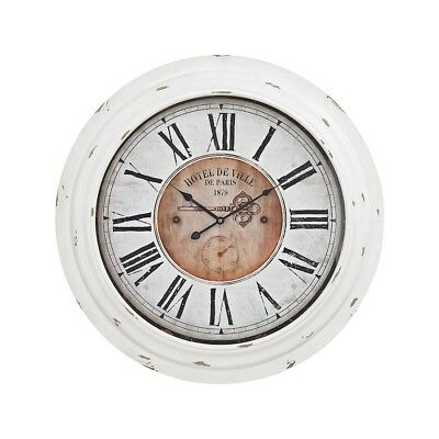 Sterling Industries Theodore Wall Clock, Antique White - 351-10246