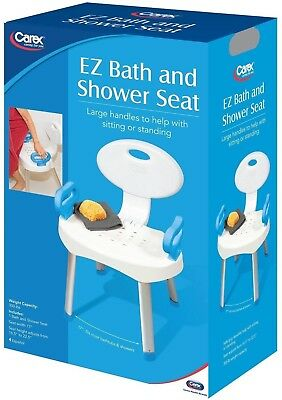 Carex E-Z Bath And Shower Seat Chair With Arm Handles
