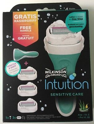Wilkinson SWORD Intuition Sensitive Care Geschenkset für Damen Rasierer+3Klingen