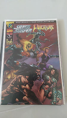DEVIL'S REIGN #1/2 SILVER SURFER & WITCHBLADE WIZARD MARVEL TOP COW with COA!