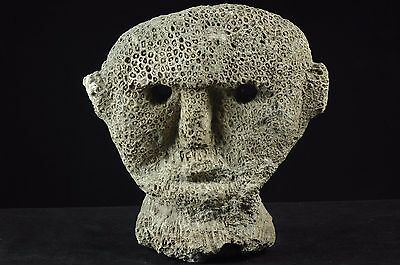 Massive selfstanding Atoni mask made of fossilised coral -  West Timor