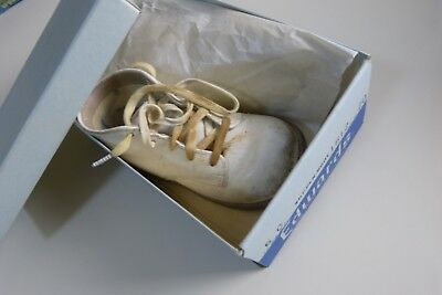 Vintage Antique Edwards Baby Shoes Boots WITH BOX Size 5