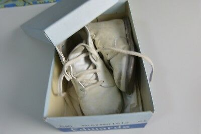 Vintage Antique Edwards Baby Shoes Boots WITH BOX Size 5.5
