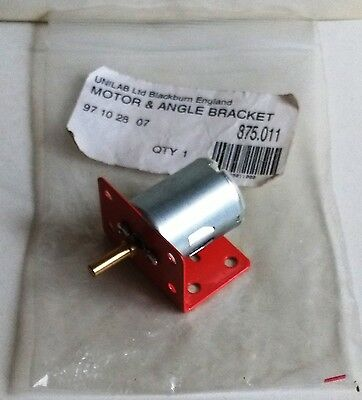 New Old Stock. Unilab 12v DC Electric Motor and Bracket. Tested and Working.