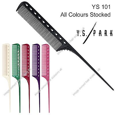 Y S Park Comb YS - 101 Plastic Tail Combs Hairdressing Salon ALL COLOURS Stocked