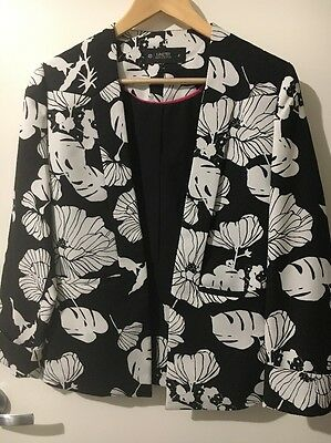 Size 6 Target Black And White Floral Blazer