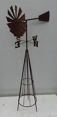 Windmill with Weather Vein wind spinner gift garden decor