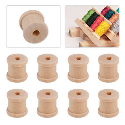50pcs Natural Color Wooden  Empty Thread Reel Spools Bobbin Sewing Tools11x12mm