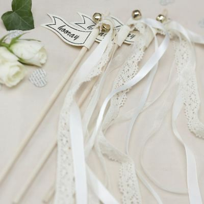 10pck Vintage Wedding Celebration Wands Table Accessories Silver Gold White Pink