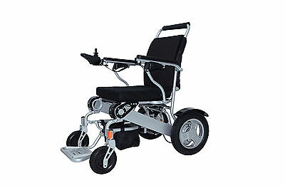 "Electric Wheelchair Mobility Folding 12"" Travel Lite EZ Mobi Cruiser 12 AH"