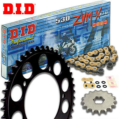 DID ZVMX Motorcycle Gold X-Ring Chain and Sprocket Kit Set 743.15/763.40/530.108