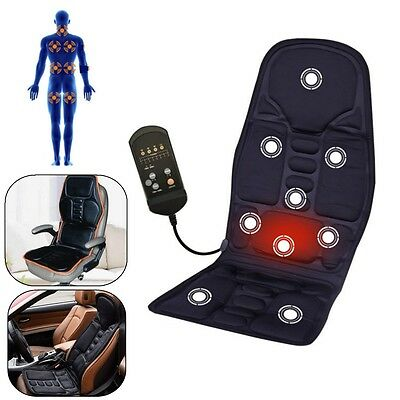 Heated Back Massage Chair Cushion Massager Car Seat Home Pad Pain Lumbar Neck US