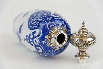 Kangxi Teacaddy, Chinese Porcelain 18th C Lovely silver mounted Royal Collection