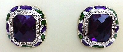 NEW Lindsay Phillips Sage green & purple snaps set of 2 snaps beautiful!! Sale