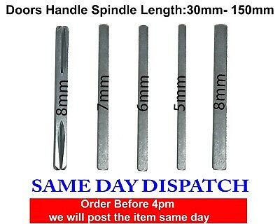 UPVC Door Handle Steel Spindle For ALL OTHER Door Handles and Door Knobs - 8mm