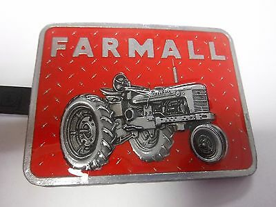 Red Square Farmall Tractor Belt Buckle