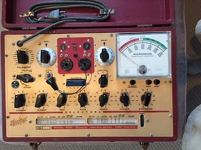 Vintage Hickok Model 6000 Vacuum Tube Tester with Manual