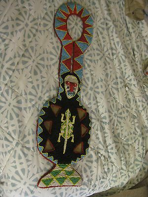 Beaded Yoruba Tunic Nigeria African Priest Vest Jacket.