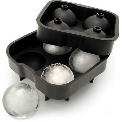 1x Flexible Silicone Ice Cube Ball Maker 4x4.5cm Sphere Mould Whiskey Cocktail
