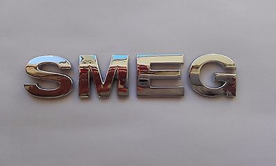 New 3D Replacement Chrome Letters For Kettle, Fridge, Cooker Etc.. Spelling Smeg