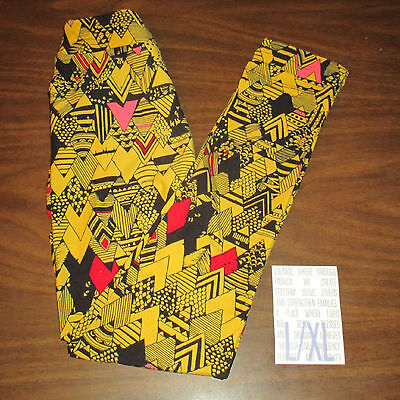 NEW IN PACK Lularoe Kids L/XL Leggings BLACK & YELLOW Red Pink STEELERS COLORS