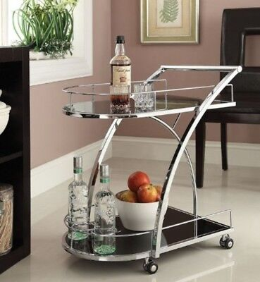 Serving Drink Island Utility T Cart Rolling Kitchen Storage Trolley Bar Beverage