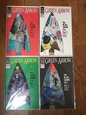 "GREEN ARROW #s 35,36,37,38 : ""The Black Arrow Saga"" COMPLETE 4 issue story.1990"