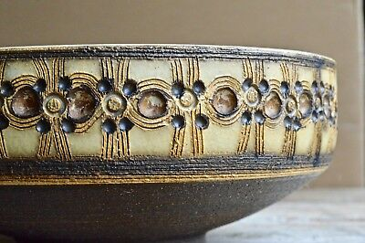 Vintage 1970s Jersey Pottery Fruit Bowl Brown Mid Century Retro!
