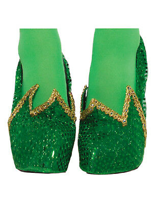 Miss Pixie Womens Adult Tinker Bell Fairy Costume Green Shoe Covers