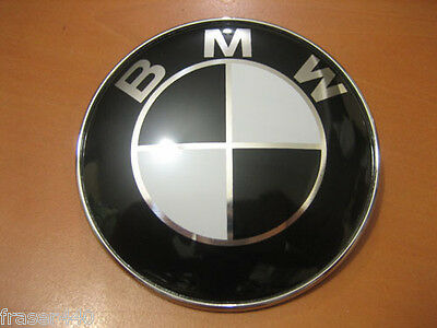 45Mm Black & White Steering Wheel Badge Suitable For Bmw