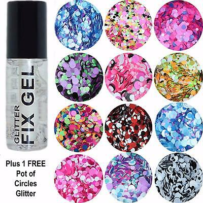 Stargazer - Fix Gel Fixative Body Glue Festival - plus FREE pot Circles Glitter