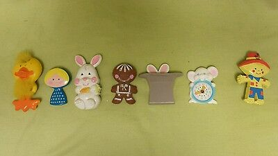 Lot of 7 Avon Vintage Pin Pal Fragrance Glace & Pins 70's
