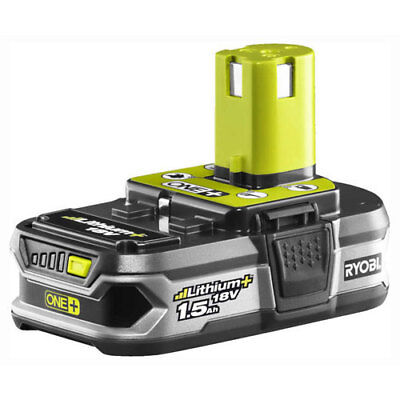 Ryobi RB18L15 18v Cordless Lithium+ Ion Battery with Gauge 1.5ah for ONE+ Tools