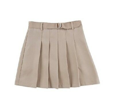 George Girls' School Uniforms Warm Beige Belted Pleated Scooter Size 12