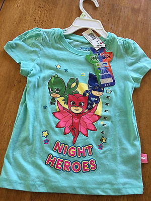 NWT PJ Masks Night Heroes Disney  R Us Girls Top Size 4T