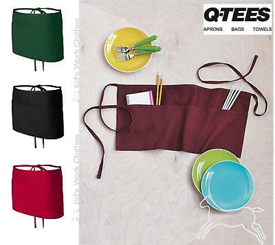 "Q-Tees Waist Apron with Pockets Q2115 24""W x 12""H"