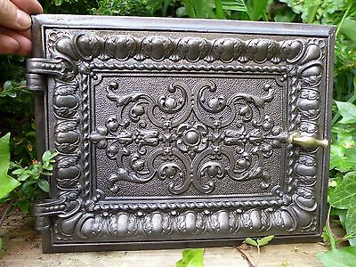 Vintage decorative cast iron fire door clay/bread oven door/pizza smoke house 3