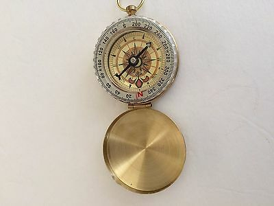 Brass Pocket Compass Camping Hiking Navigator Outdoor Activities Free Shipping