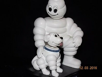 Michelin Man BOBBLE HEAD Nodder with Dog Michelin Tire Promo Store Display