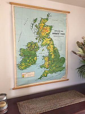 Vintage School Map - The British Isles by Chas H Scally & Co