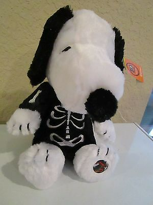 Peanuts 50 Year Anniversary Animated & Musical Snoopy In Skeleton Costume Nwt