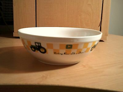 "Great Gibson John Deere Large Soup/ceral Bowl ""nothing Runs Like A Deere"""